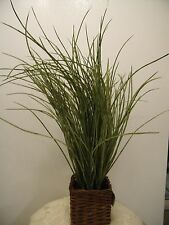GREEN GRASS THICK IN ROPE BASKET ARTIFICIAL FESCUE  FLOWER