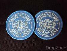 Pair of United Nations Nations Unies Patches / Badges