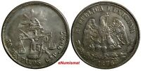 Mexico SECOND REPUBLIC Silver 1876 Cn P 50 Centavos Culiacan Mint KM# 407.2