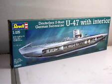 Revell 1/125 U-47 sous-marin avec intérieur 05060-PLASTIC MODEL KIT