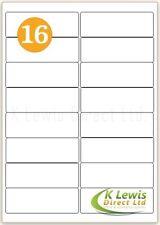 x100 16 per A4 Printer Labels Self Adhesive Stickers L7162 – J8162