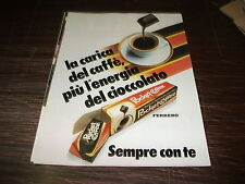 Pubblicità advertising novembre 1984. POCKET COFFEE