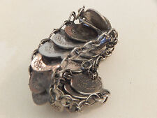 Vintage - Silver Plated replica Repubblica Coin Bracelet - Deceased Estate