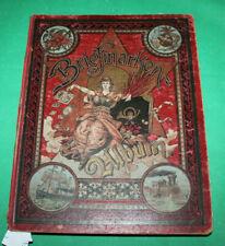 Altes Schwaneberger Vordruckalbum / Schwarte um 1907 mit vielen Marken