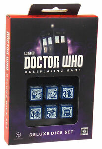 Doctor Who Deluxe Dice Set Roleplaying Game 6 RPG CB71130 BBC Dalek K9 Tardis