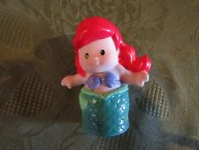 Fisher Price Little People Disney NEW Princess Ariel Mermaid fish lady girl red