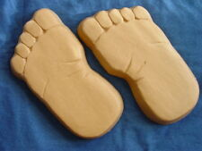 Huge 16inch Bare Feet Footprints Stepping Stone Concrete Mold 1260 Moldcreations