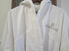 FRETTE XL White On White Microfiber Terry Bathrobe w/Hood, FREE SHIPPING!