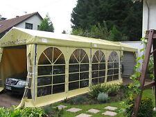 3x9 m / Partyzelt stabiles Bauzelt Festzelt PVC-LKW Plane / Inkl. 6 Fenster weiß
