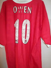 "Liverpool 1998-2000 Owen 10 Home Football Shirt Size 42""-44""  /20556"
