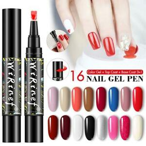 Multi-color One Step Gel Nail Polish Pen 3 In 1 Soak Art Tool Nail Off LED T1Y5