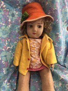 Beautiful 1930s vintage Rag Doll. Lenci style