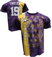 Official MINNESOTA VIKINGS Tie Dye Vertical T-Shirt Adam Thielen WR #19, Jersey