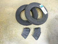 TWO New 4.00-12 Harvest King Tri-Rib 3 Rib Tires & Tubes Cub Farmall & Others