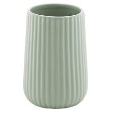 Porta spazzolini ceramica bagno arredo da appoggio color verde menta