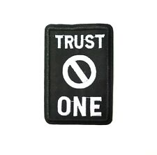 Trust No One, Iron-On/Sew-On Embroidered Patch Applique, Punk Goth Alt