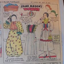 Jane Arden Sunday with Large Uncut Paper Doll from 11/12/1933 Full Size Page!
