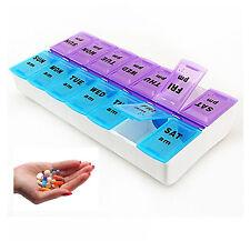 7 giorno GRANDE Pillola Casella Titolare Tablet Contenitore Organizzatore Dispenser Storage Vitamina