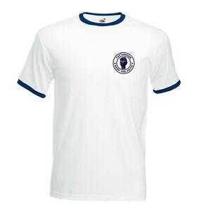 Tottenham - Keep The Faith T Shirt - FOTL Football Ringer Tee Sizes S - 3XL