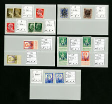 Belgium & Italy Stamps Lot of overprinted aviation varieties