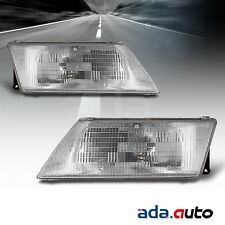 For 1995-1999 Nissan Sentra Chrome Headlights Replacement Lamps Left Right Pair