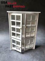 Dollhouse Miniature 1:12 Kitchen Display Cabinet Cupboard Shelf Wood Furniture