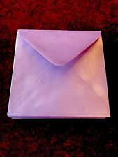 250 Pack Square   140mm X 140mm Lilac / Lavender Metallic Pearlescent Envelopes