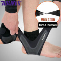 1Pair Slim Adjustable Sports Compression Elastic Ankle Brace Protector Wrap USA