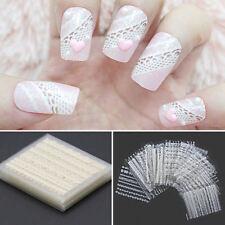30Patch 3D Autocollant Sticker Nail Art Ongle Conseils Dentelle Manucure Décor