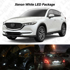 9 x White LED Interior Bulbs + License Plate Lights For 2017 Mazda CX-5