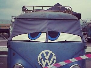 VW Split Screen original Bus Eyes screen cover / wrap Happy Buseyes blind