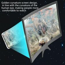"""12"""" Curved Smartphone Screen Magnifier HD Video Phone Amplifier Stand Bracket"""