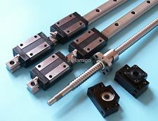16mm ballscrew RM1605-1500mm+BK/BF12 end bearing+20mm Linear Guideway 2 Rail CNC