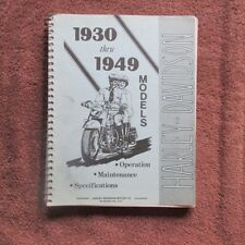 Harley Davidson '30-'49 Models-Operation-Maintenance-Specifications 99407-93
