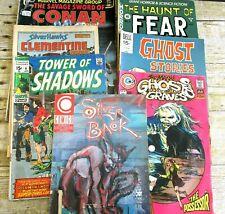 Comic Book Lot 7 Horror Sci-Fi Marvel Comico EC Dell Charlton Vintage 1970s-80s