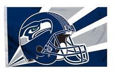 Seattle Seahawks 3x5 Flag - Helmet Design [New] Nfl Banner Sign Fan Wall