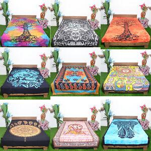 10 Pc Wholesale Lot Mandala Lord Of Ganesha Tapestry Bedsheet Wall Hanging W-2