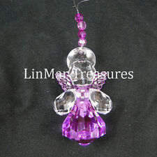 Ganz Crystal Expressions Jewel Hope Angel Sun Catcher Ornament Purple