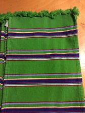 Placemats  set of 8 green stripes with tassels BX 26