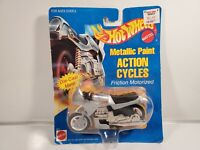 "NIP 1995 Mattel Hot Wheels ""Metallic Paint"" Action Cycle #8345"