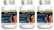 Lean Muscle Pills Growth Builder Abs Cortisol Burn Fat Loss Training Energy Aid