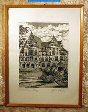 Das Rathaus, Herford=Julia Henke? (Hunke?)=Offsetlithographie Blatt 231/380