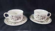 Pair of Vintage W.H. Grindley Pinewood Cups & Saucers