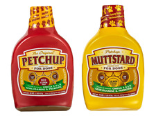 Petchup 2 bottles Nutritional Dog Gravy Condiment, Dry Food Topper Beef&Musstard