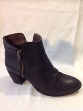 Office London Black Ankle Leather Boots Size 40