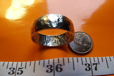 Sterling Silver Hammered Viking Ring, Perfect Size 12 as shown or sized to fit