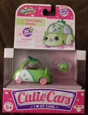 New Hot! Shopkins Cutie Cars, #08 Peely Apple Wheels, with Mini Shopkin