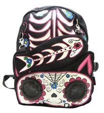 BACKPACK GOTHIC FISH KITTY SPEAKER WORK ON IPOD IPHONE MP3 PUNK GOTH BAG BGA3561