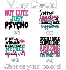 """Funny Quotes C 3"""" Vinyl Decal Sticker for Coffee Cup, Tumbler, Mug, Tumbler"""