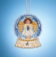 MILL HILL SNOW GLOBE Charmed Ornament Cross Stitch Kit  ANGEL GLOBE MH16-1935